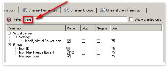 в поле фильтрации нужно вписать «icon»