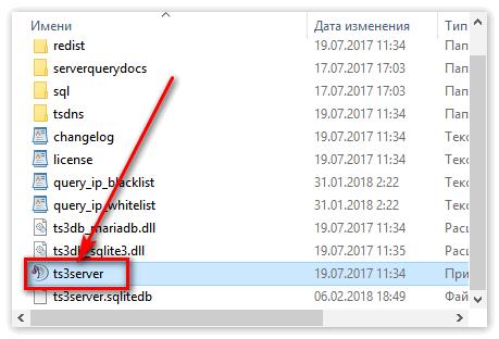 Установщик сервера в TeamSpeak3