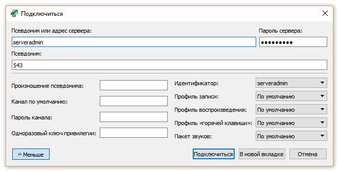 Выбрав сервер, откройте дополнительные надстройки кликнув «Больше»